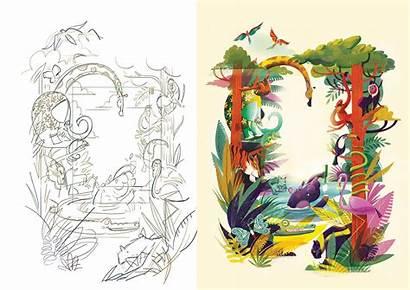 Jungle Behance Illustration