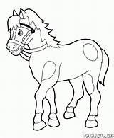Horse Coloring Rocking Walks sketch template