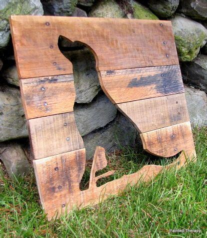 reclaimed wood animal silhouettes woodworking projects
