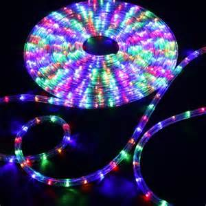 150 rgb multi color led rope light home outdoor christmas lighting wyz works