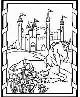 Coloring Pages Medieval Horse Unicorn Printable Castle Times Adults Colouring Sheets Sheet Unicorns Dover Books Colorear Doverpublications Fun Princess Adult sketch template