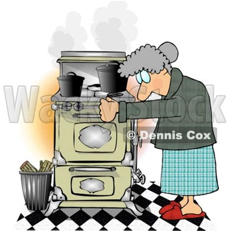 elderly woman cooking food    household kitchen