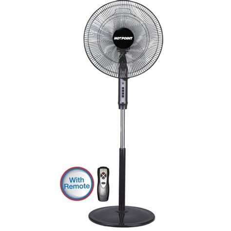 floor fan with remote hotpoint hfs662b 16 quot floor standing fan remote black