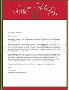 christmas letter template 9 free word pdf documents With christmas holiday letter
