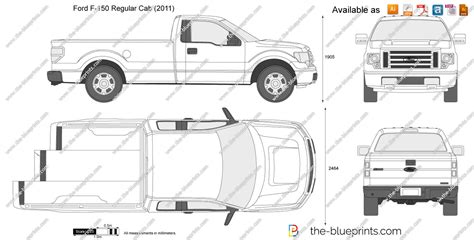 ford   regular cab vector drawing