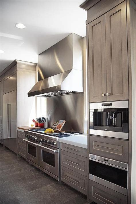 grey wash kitchen cabinets gray wash cabinets with white quartz counters 4097