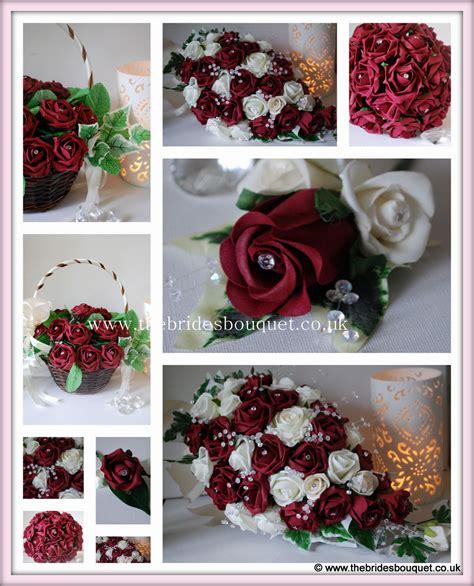 burgundy wedding flowers bridal tear brides bouquet