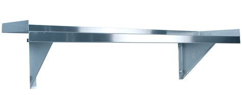 stainless steel solid kitchen shelving kss 1200mm solid wall shelf w brackets stainless steel