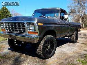 1979 Ford F 150 American Truxx Vortex Rough Country Suspension Lift 4in Custom Offsets