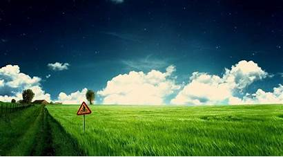 Pc Wallpapers Pathway Bicycle Field Desktop Greenery