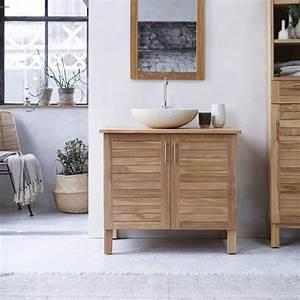 Meuble Evier Salle De Bain : meubles salle de bain en teck soho solo meuble sous vasque ~ Dailycaller-alerts.com Idées de Décoration
