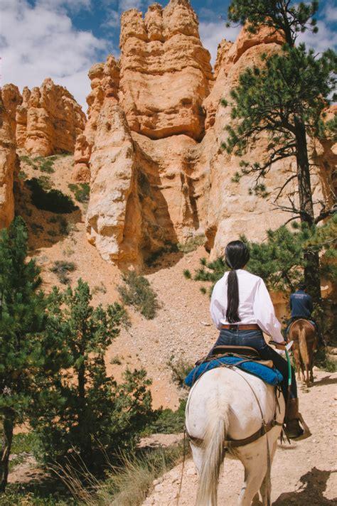 riding bryce canyon horseback ride through rides trail