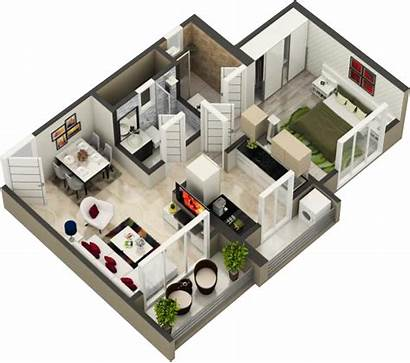Bhk 1bhk 3d Layouts