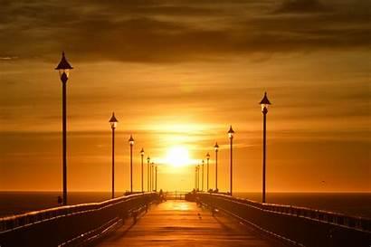 Sunset Bridge During Beach Brighton Sunrise