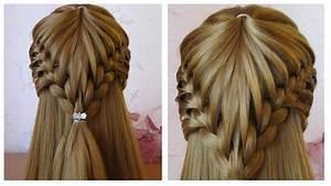 Tresse Facile à Faire Soi Même : coiffure cheveux long mi long coiffure avec tresse facile faire soi m me youtube ~ Melissatoandfro.com Idées de Décoration
