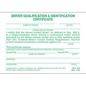qualification card template certification of road test pocket cards