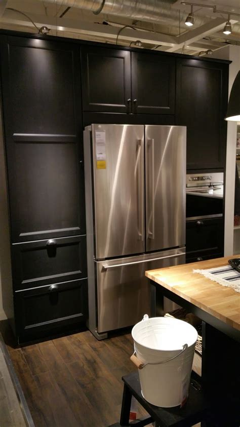 ikea stainless kitchen cabinets laxarby looks gorgeous with stainless steel design 4595