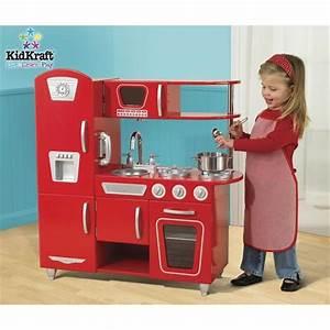Cuisine En Bois Enfant Pas Cher : kidkraft cuisine enfant vintage rouge en bois achat vente dinette cuisine cdiscount ~ Teatrodelosmanantiales.com Idées de Décoration