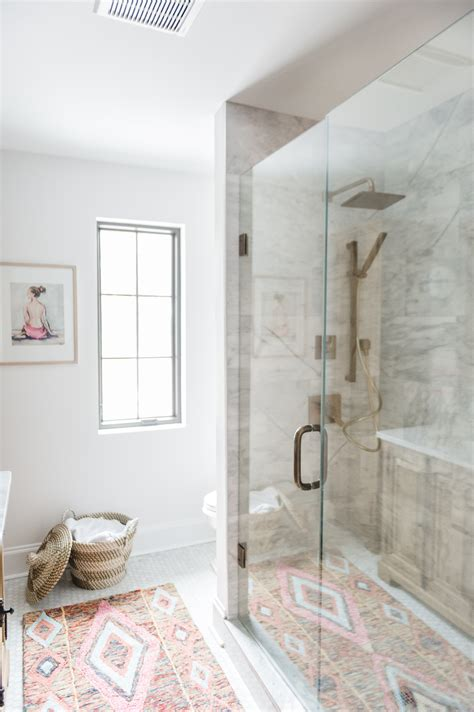 modern boho bathroom renovation reveal  leslie style
