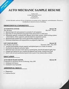 More Auto Mechanic Resume Templates