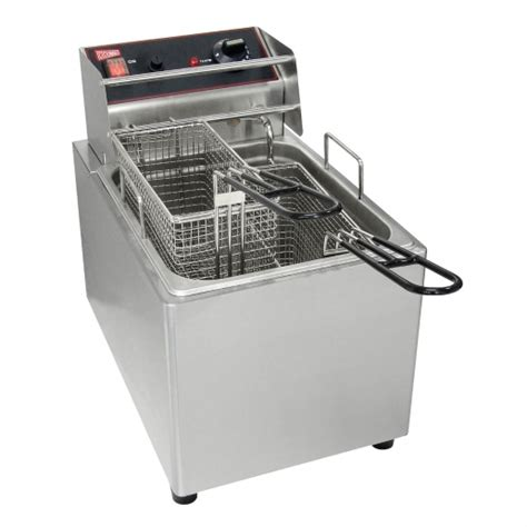fryer deep electric commercial countertop cecilware capacity single fry stainless steel lb el15 120v 1800w tank skip