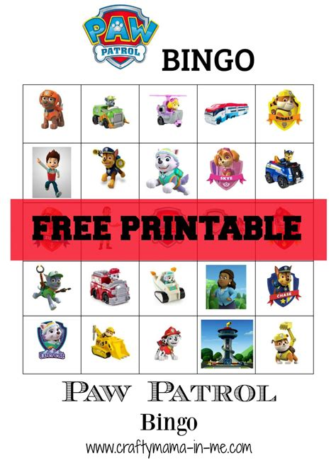 Free Printable Paw Patrol Bingo  Crafty Mama In Me. Welcome Poster Ideas. Mothers Day Poster Ideas. Free Psd Flyer Template. Mickey Mouse Invitation Template. Graduation Gift Ideas For Guys. Reading A Graduated Cylinder. Graduate Programs In Maryland. Make Your Own Tickets