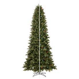 shop ge 9 ft pre lit aspen fir artificial christmas tree with color changing led lights at lowes com
