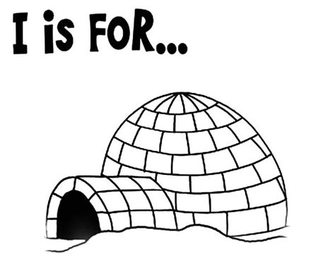 preschool kids learning igloo coloring pages bulk color