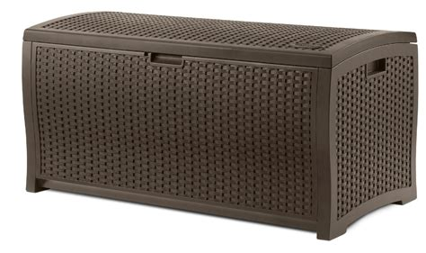 suncast 134 gallon resin deck box suncast wicker usa