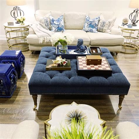 tufted blue ottoman best 20 tufted ottoman ideas on upholstered