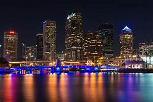 downtown tampa skyline downtown tampa skyline at night