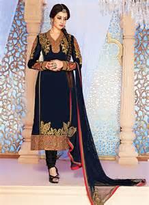 designer suits blue georgette designer suit