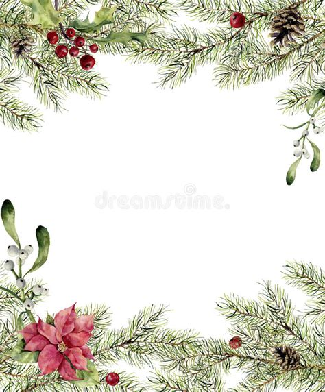 christmas wallpaper invitations watercolor invitation fir branch with mistletoe and poinsettia new year tree