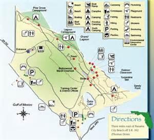 St Andrews State Park Panama City Beach Map