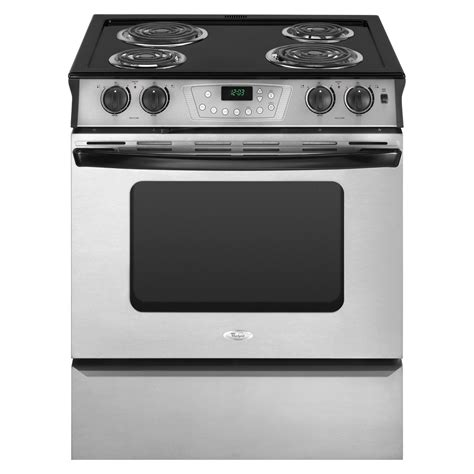 best electric kitchen ranges whirlpool ry160lxts 30 quot slide in electric range sears outlet