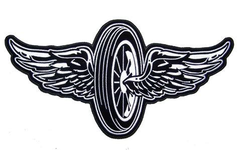 Jumbo 11 In Flying Motorcycle Wheel Wings Jacket Back