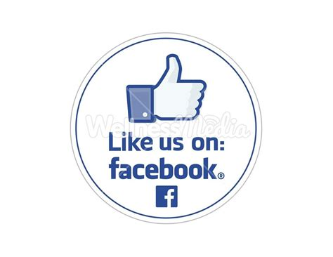Like Us On Sticker Template by Like Us On Stickers
