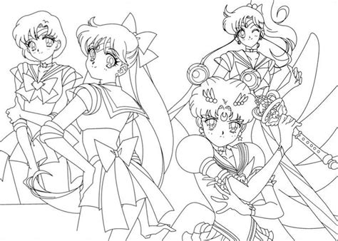 Sailor Moon And The Sailor Scouts, Free Coloring Pages