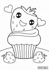 Cupcake Coloring Pages Cute Print Colouring Food Printable Drawing Getdrawings Cake Sheets Shopkins Strawberry Opportunities Nice Preschool Comments Getcolorings Coloringhome sketch template
