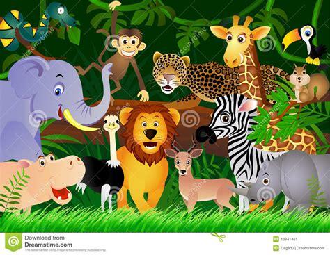 stock image cute animal cartoon   jungle image