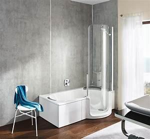 baignoires simples encastrables d39angle a porte With porte d entrée pvc avec chauffage salle bain