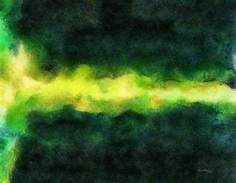painting with green green abstract painting by russ harris