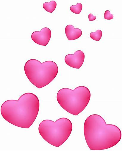 Hearts Pink Heart Clip Clipart Floating Transparent
