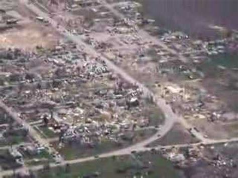 Aerial views Parkersburg tornado damage - YouTube