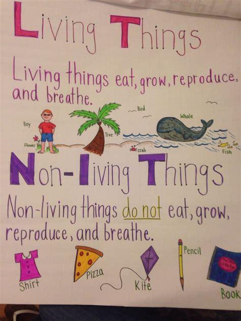 living   living anchor chart kindergarten science