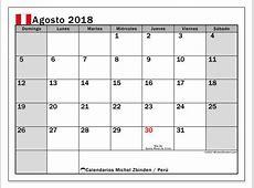 Calendario agosto 2018, Perú Michel Zbinden es