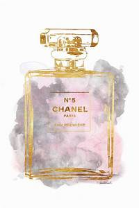 Chanel arte tamaño impreso selección color de rosa por ...