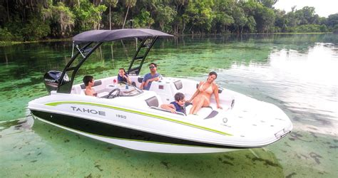 Fishing Pontoon Boat Brands by Shop Tahoe Sport Boats For Sale In Stuart Deck Bow