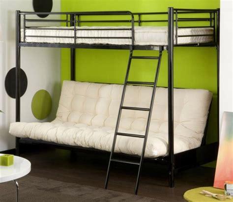 lit en hauteur avec canap lit mezzanine la vedette de la chambre à coucher