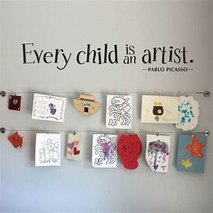 Every child is an artist wall decal large by